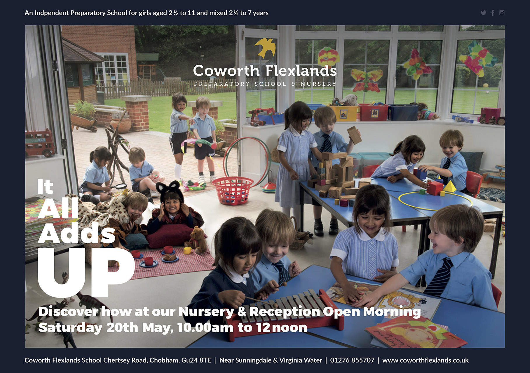 Coworth Flexlands School - Nursery & Reception Open Morning Sat 20th May 2017