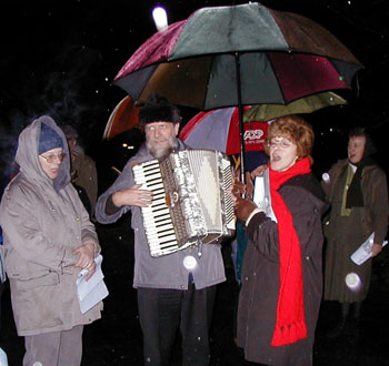 Andrew Carol Singing in 1999