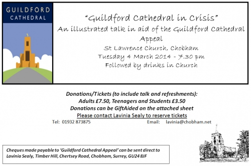 Guildford Cathedral Appeal Talk 4th March 2014