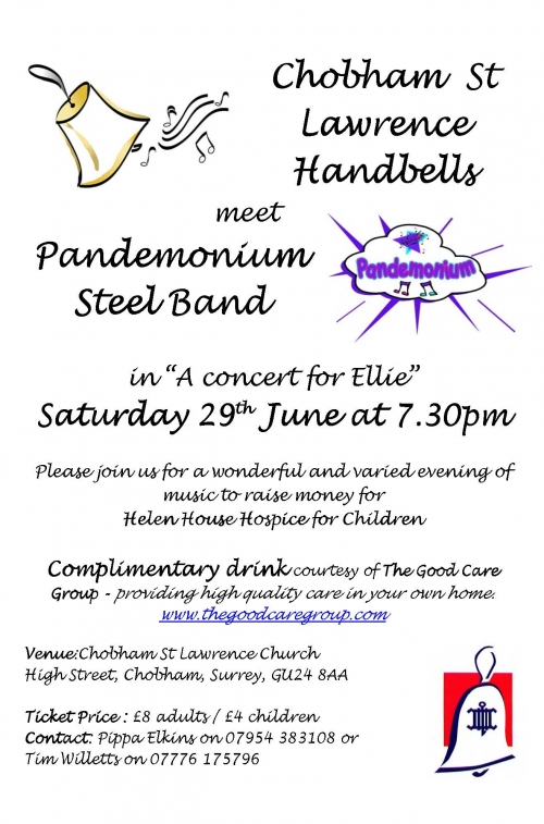 St Lawrence Handbells meet the Pandemonium Steel Band