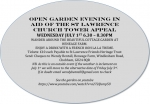 Open Garden Evening for the St Lawrence Church Tower Appeal