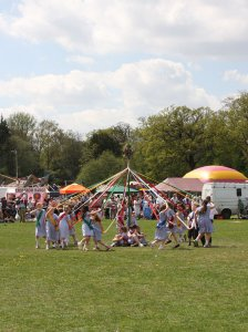 The Maypole Dance by St Lawrence Church School.