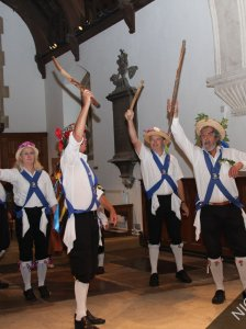Chobham Morris Dancers in St Lawrence Church