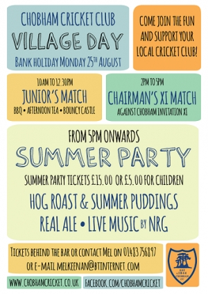 Chobham Cricket Club Summer Party