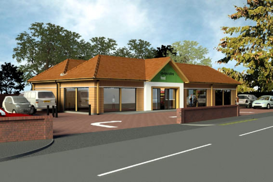 Artists impression of the new Coop store