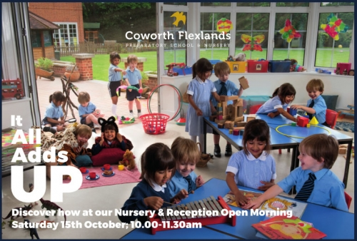 Coworth Flexlands School - Nursery & Reception Open Morning Sat 15th Oct 2016