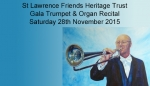 Gala Trumpet & Organ Recital, 28 Nov 2015
