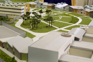 Scale model of the new hospital