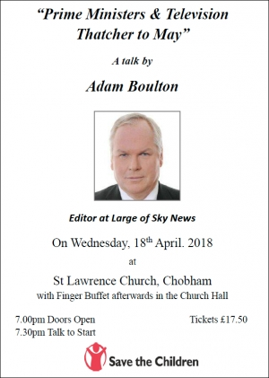 Prime Ministers & Television Thatcher to May - a talk by Adam Boulton