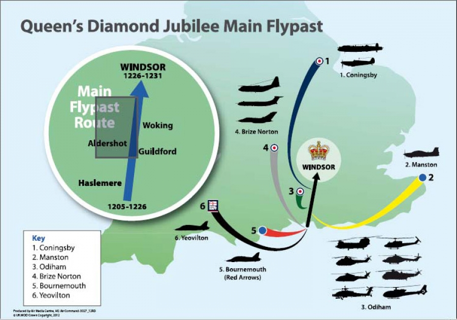 Queen's Diamond Jubilee Main Flypast